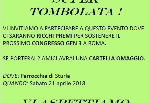SUPER TOMBOLATA CON I RAGAZZI – Ora anche un Video Promozionale – Genova sabato 21.04 ore 20.30