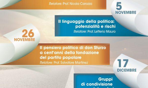 SCUOLA DIOCESANA DI POLITICA A GENOVA – programma ott-nov-dic 2018