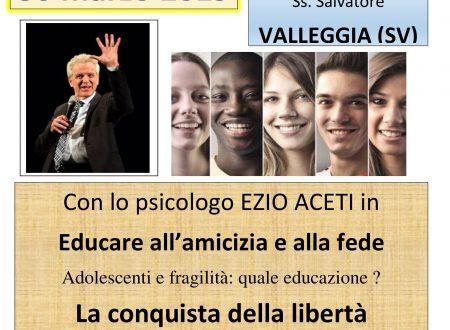 EZIO ACETI A VALLEGGIA (SV) IL 29 MARZO 2019 parrocchia Ss. SALVATORE