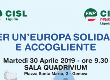 PER UN' EUROPA SOLIDALE E ACCOGLIENTE – Martedì 30 aprile ore 9.30 a Genova sala Quadrivium
