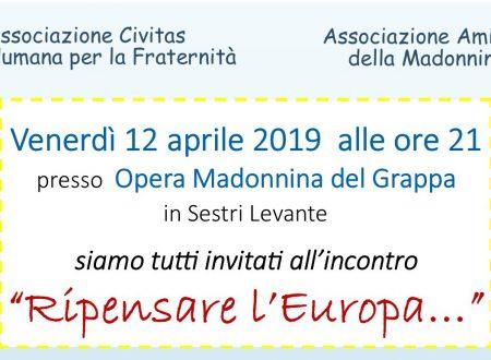 RIPENSARE L' EUROPA – a Sestri Levante venerdì 12 aprile ore 21