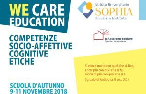 WE CARE EDUCATION – SCUOLE DI FORMAZIONE – a Loppiano Verona Benevento