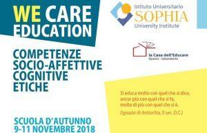 WE CARE EDUCATION – SCUOLE DI FORMAZIONE – a Loppiano Verona Benevento