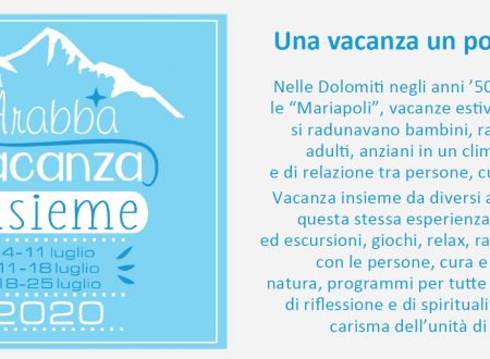 "Mariapoli ""Vacanza insieme 2020"" – ad Arabba (Dolomiti)"