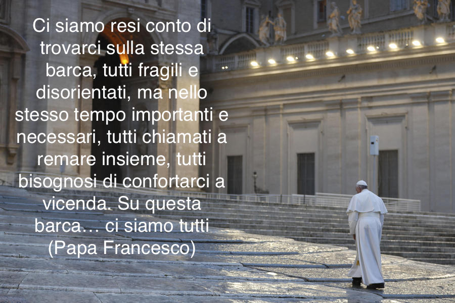 "Pope Francis arrives to St. Peter's Square to deliver an extraordinary ""Urbi et Orbi"" (to the city and the world) blessing - normally given only at Christmas and Easter -, as a response to the global coronavirus disease (COVID-19) pandemic, at the Vatican, March 27, 2020. ANSA/ REUTERS/ YARA NARDI/ POOL"