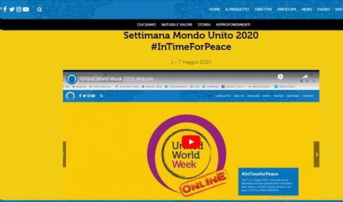 Settimana Mondo Unito 2020 : da venerdì 1 maggio a venerdì 7 maggio 2020