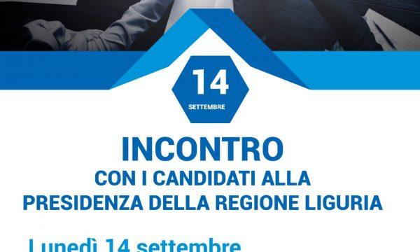 INCONTRO CON I CANDIDATI ALLA PRESIDENZA DELLA REGIONE LIGURIA – Lunedì 14.09.2020 ore 18.30 Piazza San Lorenzo Genova
