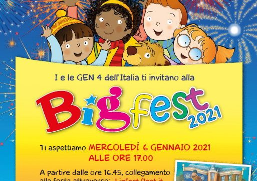 I Gen4 ti invitano al Big Fest 2021: mercoledì 6.01.2021 ore 17