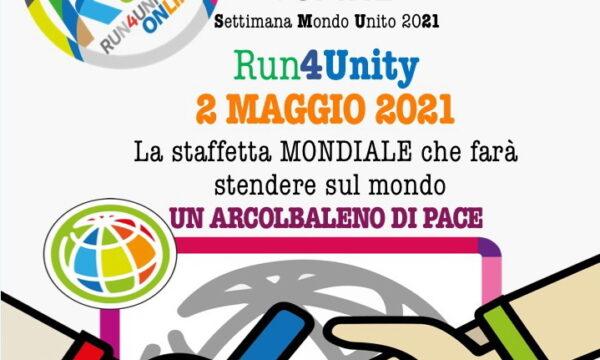 RUN4UNITY : Ragazzi e Ragazze corrono uniti per la Pace – Domenica 2 maggio 2021 dalle ore 11 alle 12