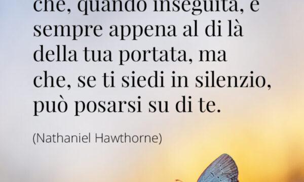 PENSIERI DI VITA: La felicità è una farfalla che, quando inseguita…